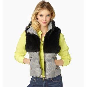 Juicy couture fur puffer vest